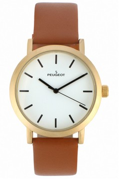 Peugeot Men's Casual Leather Watch - 2059G
