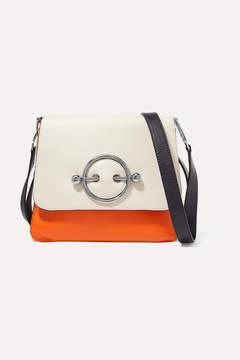 J.W.Anderson Disc Color-block Leather Shoulder Bag - Ivory