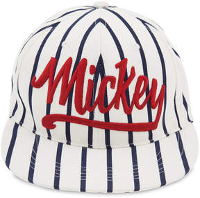 Disney Mickey Mouse Striped Baseball Cap for Adults
