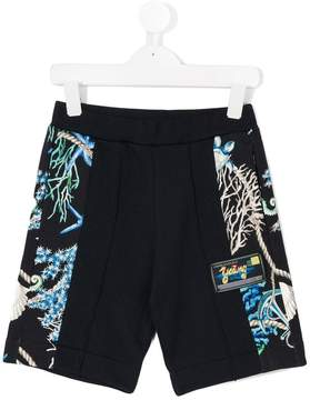 Versace marine print track shorts