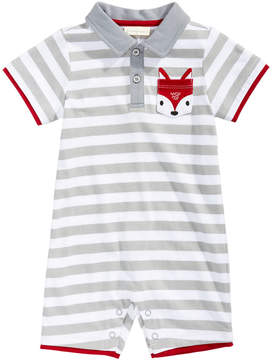 First Impressions Striped Fox-Pocket Cotton Romper, Baby Boys (0-24 months), Created for Macy's