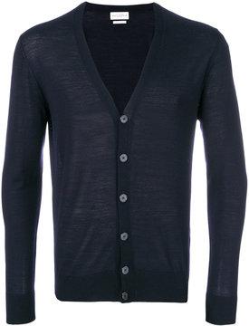 Ballantyne v-neck fitted cardigan