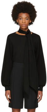 Chloé Black Bow Turtleneck