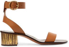 Chloé Qassie Leather Sandals - Brown