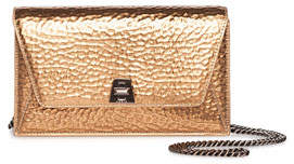 Akris Anouk Mini Envelope Hammered Crossbody Bag