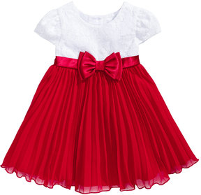 Sweet Heart Rose Lace Pleated Special Occasion Dress, Baby Girls (0-24 months)