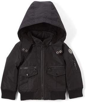 Urban Republic Black Six-Pocket Hooded Ballistic Jacket - Toddler