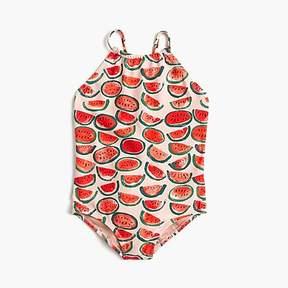 J.Crew Girls' one-piece swimsuit in watermelon print