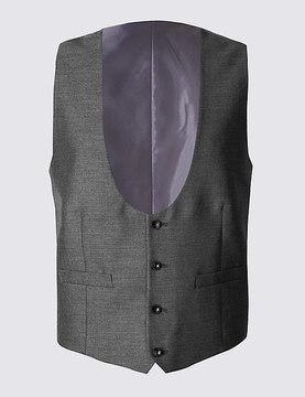 Marks and Spencer Grey Tailored Fit Waistcoat