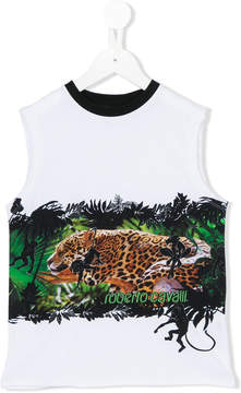 Roberto Cavalli sleeveless printed T-shirt