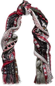 Alexander McQueen Ribbon Jacquard Scarf - Red