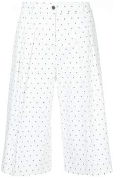Jil Sander Navy micro-print culottes