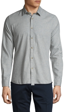 Commune De Paris Men's Jaroslaw Oxford Cotton Sportshirt