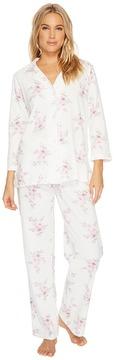 Carole Hochman Printed Notch Collar Pajamas Women's Pajama Sets