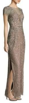 Aidan Mattox Beaded Sequin Gown
