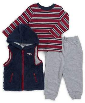 Little Me Baby Boy's Three-Piece Vest, Top and Jogger Pants Set