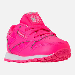 Reebok Girls' Toddler Classic Leather Girl Squad Casual Shoes