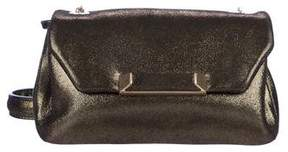 Stuart Weitzman Metallic Suede Crossbody Bag