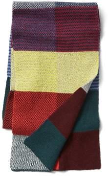 Gap Patchwork merino blend scarf