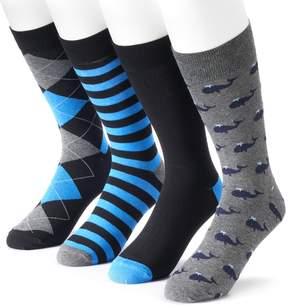 Croft & Barrow Men's 4-pack Whale Dress Socks