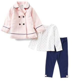 Little Me Baby Girls 12-24 Months Bow-Back Jacket, Long-Sleeve Tee, & Leggings 3-Piece Set