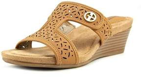 Giani Bernini Brezaa Women Open Toe Synthetic Tan Wedge Sandal.