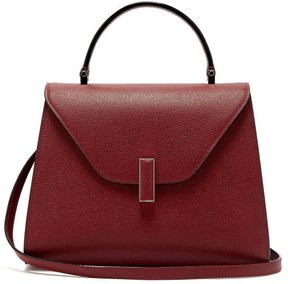 Valextra Iside Medium Grained Leather Bag - Womens - Burgundy