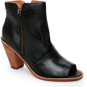 Corso Como Black Tameka Peep Toe Booties