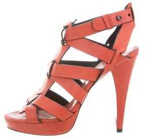 Barbara Bui Leather Caged Sandals