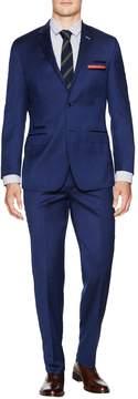 English Laundry Men's Regular Fit Sharkskin Wool Suit