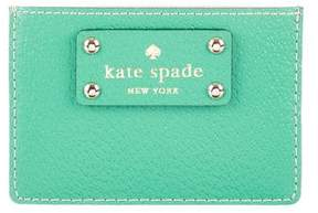 Kate Spade Leather Logo Cardholder - GREEN - STYLE