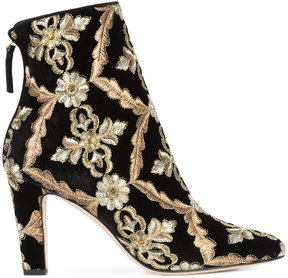 Manolo Blahnik Isola embroidered boots