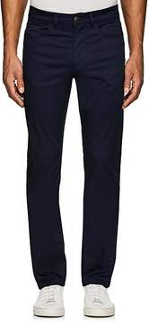 Luciano Barbera MEN'S STRETCH-COTTON FLAT-FRONT TROUSERS