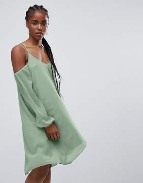 Bellfield Lupin Cold Shoulder Waterfall Hem Dress