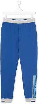 Emporio Armani Kids TEEN logo stripe track pants
