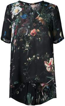 ADAM by Adam Lippes floral print sheer sleeve dress