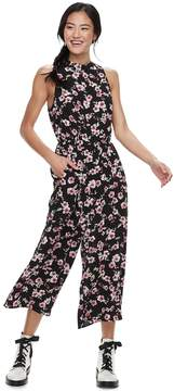 Speechless Juniors' Printed Halter Jumpsuit