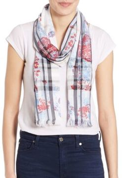 Lord & Taylor Two-Patterned Scarf