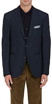 Luciano Barbera Men's Birdseye-Weave Wool-Cotton Two-Button Sportcoat