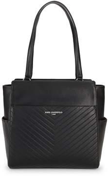 Karl Lagerfeld Paris Women's Charlotte Pebble Leather Tote