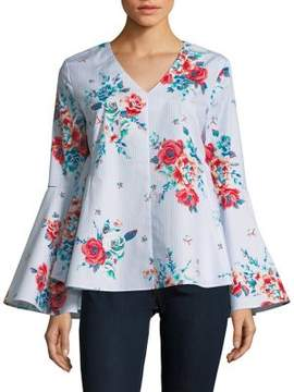Context Floral Bell Sleeve Top