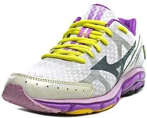 Mizuno Wave Rider 17 Women W Round Toe Synthetic White Running Shoe.