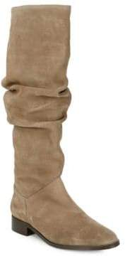 Saks Fifth Avenue Tall Almond Toe Suede Boots