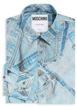 Moschino Printed Cotton Dress Shirt