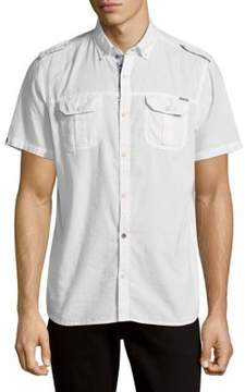 Buffalo David Bitton Cotton Button-Down Shirt