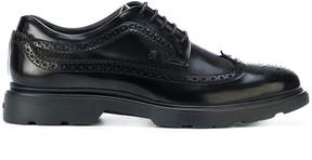Hogan punch hole detailed Derby shoes