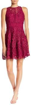 Adelyn Rae Dylan Crochet Lace Fit & Flare Dress