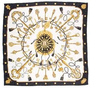 Hermes Les Clef Silk Scarf