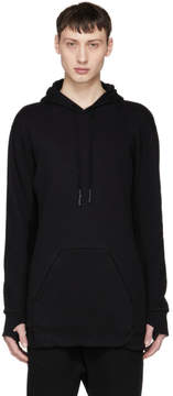 11 By Boris Bidjan Saberi Black Wheel Logo Hoodie