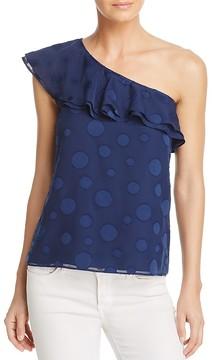 Cooper & Ella Leah Embroidered One-Shoulder Top